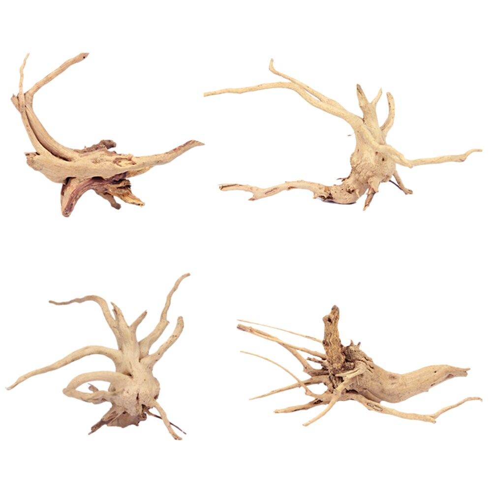 4Pcs Nontoxic Decorative Natural Artificial Aquarium Equipment Landscaping Decoration Driftwood