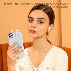 Image 5 - עבור iPhone SE 2020 11 פרו מקס Xs Max Xr 8 7 6 6s בתוספת מקרה אצבע טבעת מחזיק טעינת כיסוי עבור AirPods 1 2 Bluetooth אוזניות