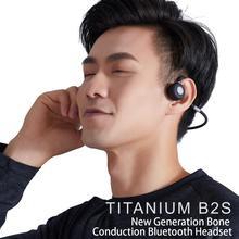 цена на HUHD B2S headphones Bluetooth 5.0 Bone Conduction Headsets Wireless Sports earphones Handsfree Headsets Support Wireless Sports