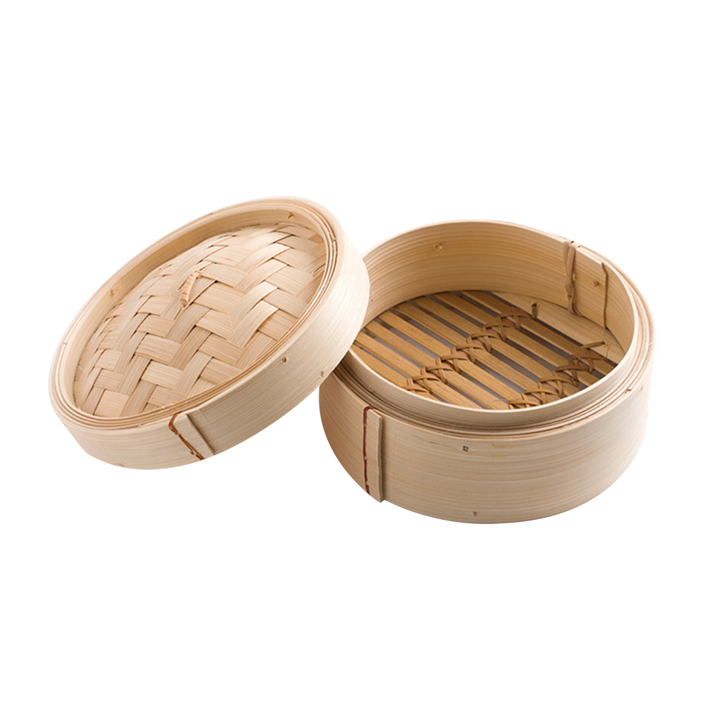 1 Set Bamboo Steamers Chinese Dim Sum Steaming Basket Cookers Dessert Rice Steamers With Cover Cookware Cooking Tools