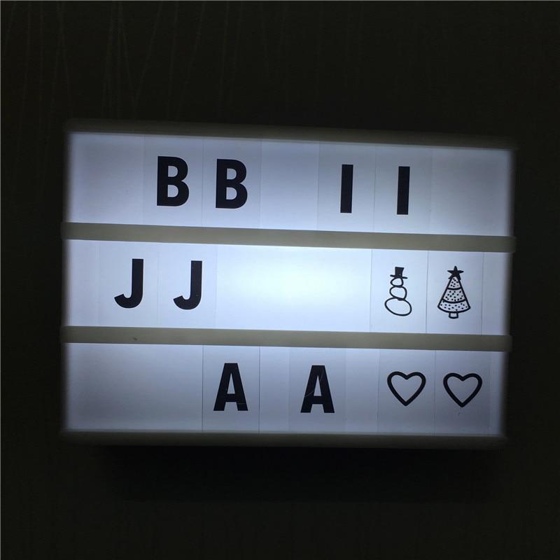 مبيعات الخصم A6 بقيادة سينما مفضلتي علامات 90PCS المنزل الجدول الديكور والإضاءة السلطة بواسطة بطارية AA أو كابل USB DC6V