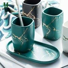 Untior 320 мл мраморный Керамика дозатор для жидкого мыла чашка