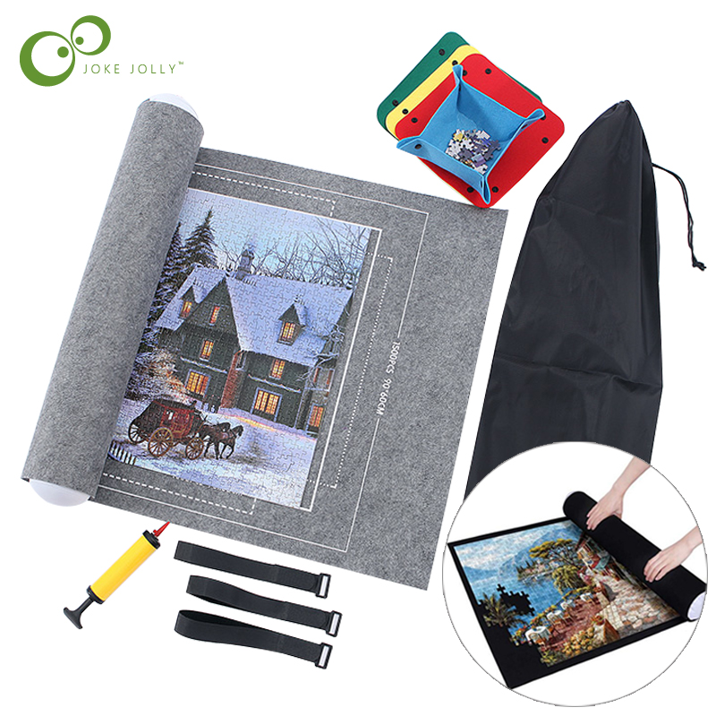 Puzzles Mat Jigsaw Roll Felt Mat Play mat Puzzles Blanket For Up to 3000 Pcs Puzzle Accessories Portable Travel Storage bag GYH 1