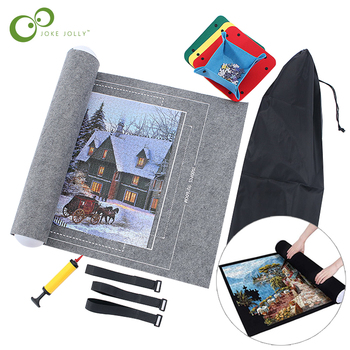 Puzzles Mat Jigsaw Roll Felt Mat Play mat Puzzles Blanket For Up to 3000 Pcs Puzzle Accessories Portable Travel Storage bag GYH