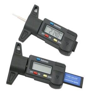 Image 1 - Righello di profondità del modello di pneumatico LED Display digitale elettronico calibro a corsoio per pneumatici Tester di profondità del battistrada digitale righello di misurazione dei pneumatici