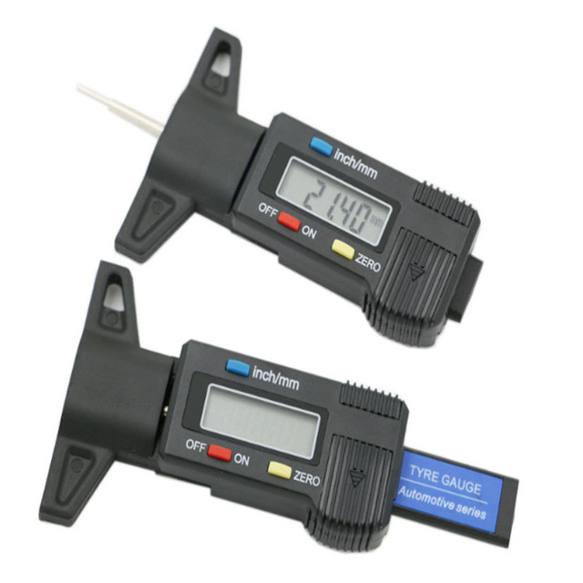 Righello di profondità del modello di pneumatico LED Display digitale elettronico calibro a corsoio per pneumatici Tester di profondità del battistrada digitale righello di misurazione dei pneumatici