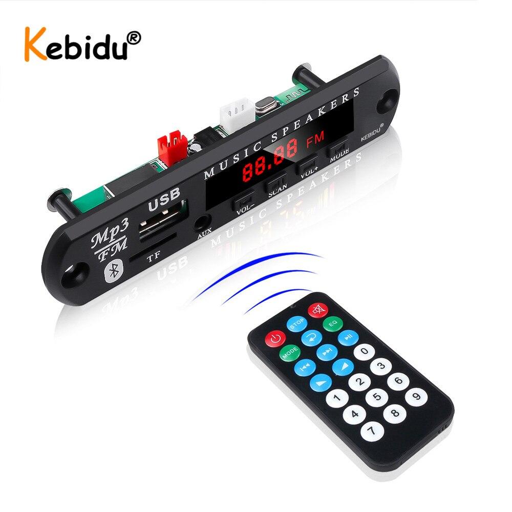 Kebidu 12V sans fil Bluetooth MP3 WMA décodeur carte lecteur MP3 voiture Audio USB TF FM Module Radio pour haut-parleur de voiture