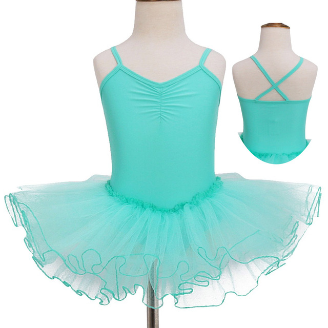 inhzoy Women Lyrical Ballet Dance Dress Sleeveless Ruched Built-in Gymnastics Leotard Dancewear