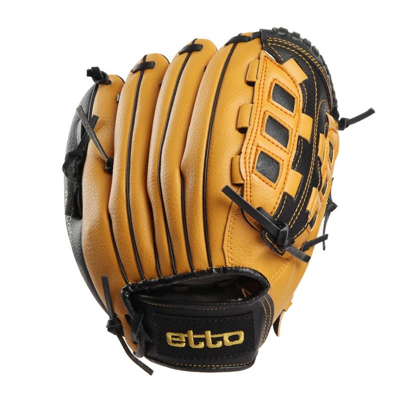 Leather Right Hand Baseball Glove Men Kids Baseball Glove Practice Hand Weighted Gants Baseball Beisbol Outdoor Sports BJ50ST