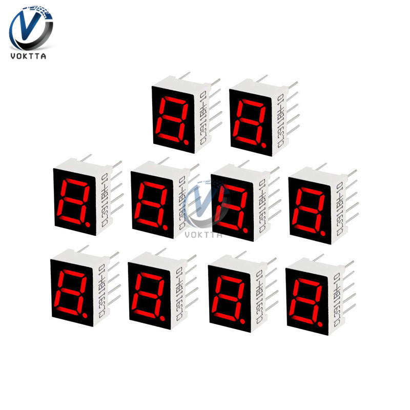 0.56 Inch 7 Segment LED Display 1 Bit / 2 Bit / 4 Bit Time Digital Tube Red Common Cathode Display Digital Display Tube AS