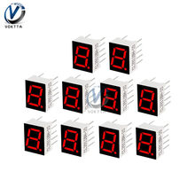 0.56 Inch 7 Segmen LED Display 1 Bit/2 Bit/4 Bit Waktu Tabung Digital Merah Umum Katoda tampilan Layar Digital Tabung AS(China)