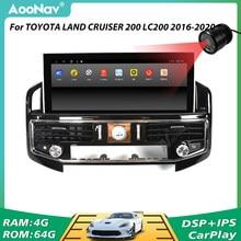 Voiture 2 Din GPS Radio GPS Navigation unité principale pour TOYOTA LAND CRUISER 200 LC200 2016-2020 voiture Autoradio lecteur stéréo récepteur