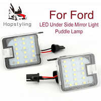 2Pcs Hohe Helle LED Pfütze Lichter Für Ford Mondeo C-Max Kuga Focus Flucht S-Max Led unter spiegel Licht Auto Ersatz