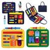 Meşgul kurulu toka Montessori oyuncak uçucu eğitim duyusal kurulu yürümeye başlayan çocuklar için istihbarat geliştirme Zip düğme dantel Up aracı