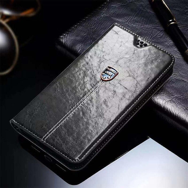 Высококачественный чехол-книжка из искусственной кожи с металлическими знаками, чехлы на заднюю крышку телефона 5,0 дюйма для Lenovo K3 K30, K30-t, ...