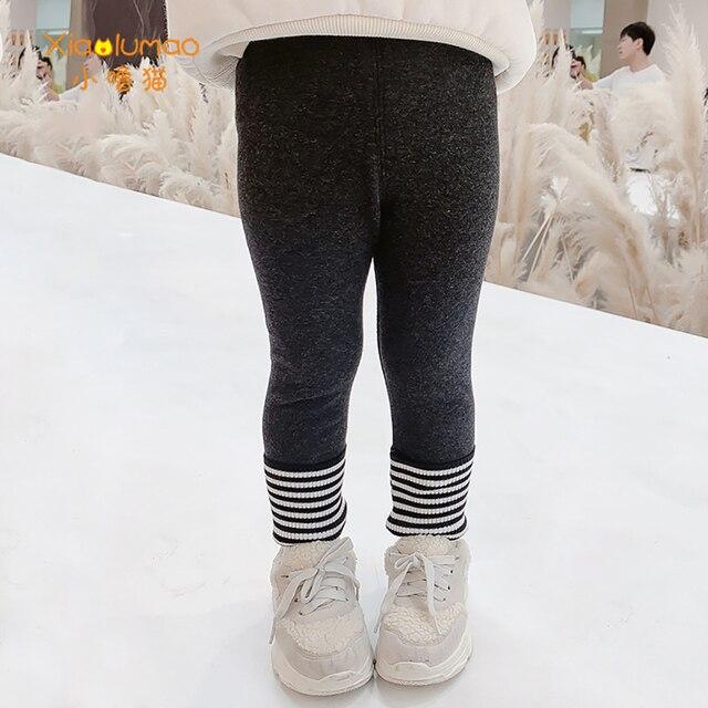 Фото леггинсы xiaolumao для девочек зимние утепленные флисовые бархатные цена