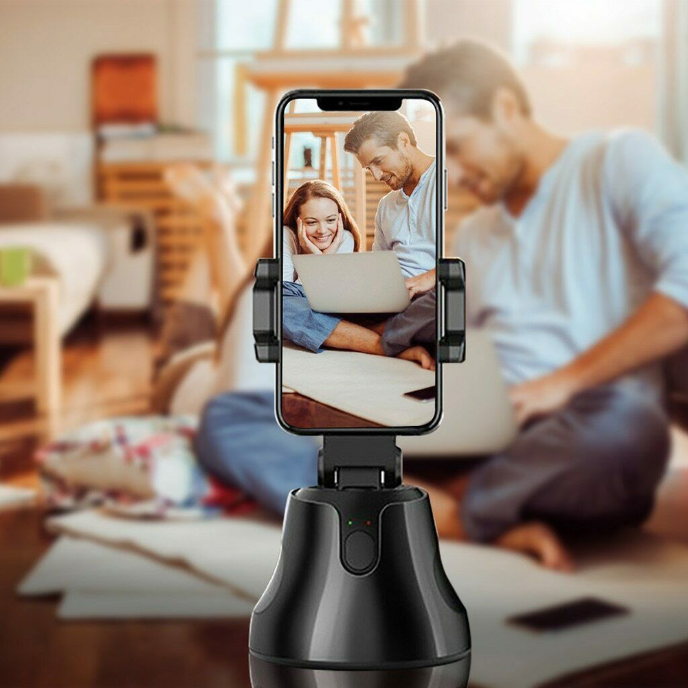 Auto Tracking Smart Shooting Holder 360 Degree Cell Phone Holder For Video Reocording  Auto Face Tracking Camera Phone Holder