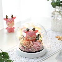 12sets/pack Diameter=10cm White Base Glass Dome Vase Wedding Home Decoration Round Shaped Glass Cover Friend Gift