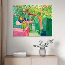David Hockney The Gate Wall Art Canvas Posters And Prints Painting Decorative Pictures For Office Living Room Home Decor