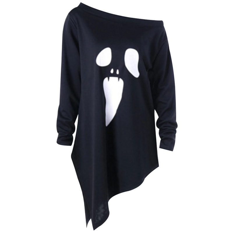 halloween graphic tees 2019 harajuku womens clothing long sleeve top 90s women vintage aesthetic christmas shirt