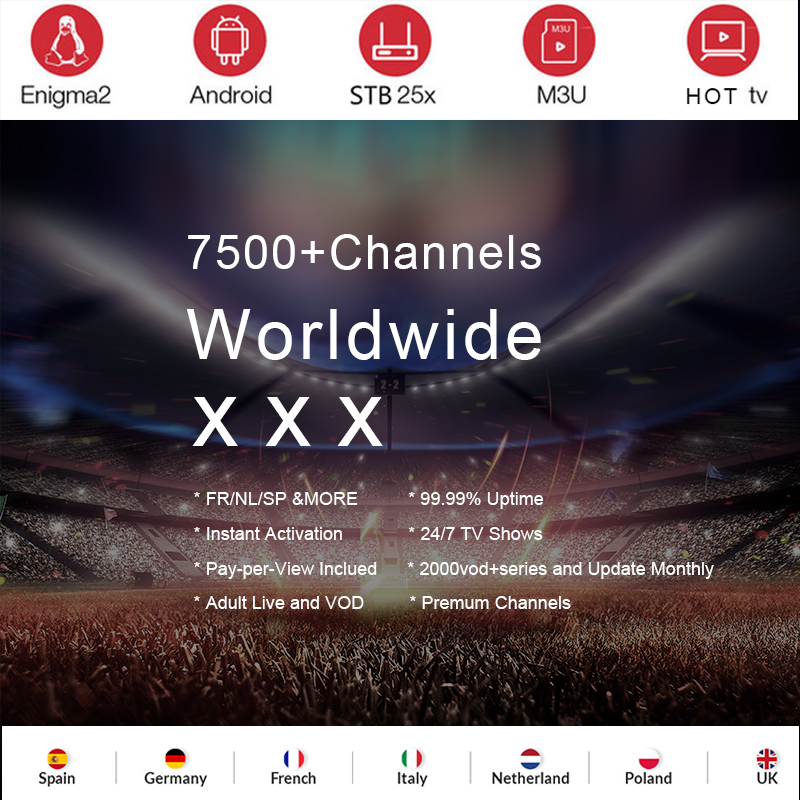 Italy IPTV Subscription 7000+Live Super  Germany Italian Albania Turkey Adult For M3U Android Enigma2