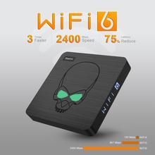 Beelink-decodificador de TV GT KING, WiFi 6, Android 9,0, S922X, cuatro núcleos, 4GB + 64GB, bluetooth 4,1, 1000M, LAN, USB 3,0