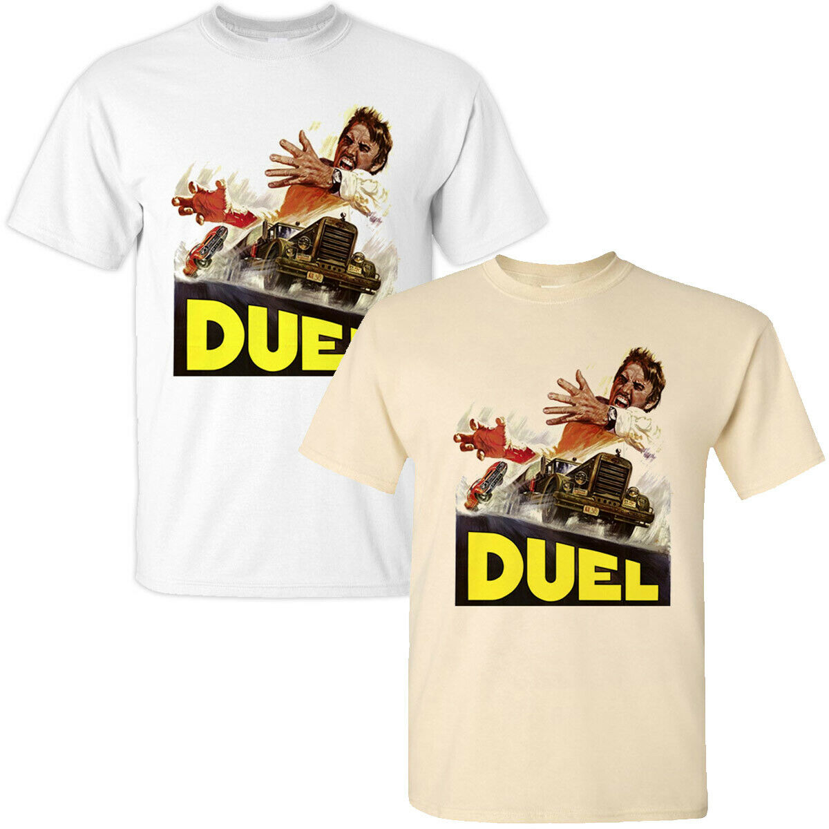 Duel V1 Steven Spielberg Movie Poster 1971 Thriller T Shirt All Sizes S-3XL Tee Shirt Trendy Streetwear