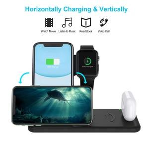 Image 2 - 15 ワットで 4 1 充電ドックapple腕時計 5 4 3 2 airpodsプロ高速チーワイヤレス充電器iphone用スタンド 11 プロxs xr × 8