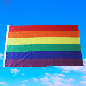 Progreso Prides Arco Iris bandera 3x5ft poliéster LGBTQ desvanecimiento resistente impermeable bandera PI669