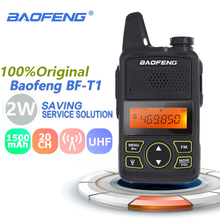 100% Original BAOFENG BF T1 MINI Walkie Talkie UHF 400 470MHz Portable T1 Two Way Radio Ham Radio Amador Micro USB Transceiver