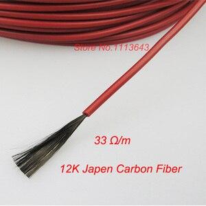 Image 4 - 100m Infrarot Heizung Kabel 12K 33ohm/m Silikon Carbon Faser Heizung Draht für Warmen Boden mit Temperatur controller Thermostat