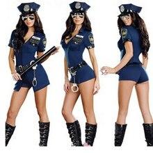 Uniforme de policier, uniforme de marin de police, costume de fête d'halloween, jupe sexy pour cosplay sexuel, uniforme de jeu réaliste