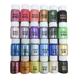 24 Colors Cosmetic Grade Pearlescent Natural Mica Mineral Powder Epoxy Resin Dye Pearl Pigment DIY Jewelry Crafts Making Accesso