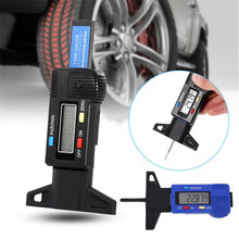 Digital depth gauge caliper tread LCD Tyre For Car Tire 0-25.4mm Measurer Tool Caliper