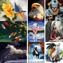 AMTMBS Frameless Colorful Flower Animals Scape Diy Digital Painting By Numbers Modern Wall Art Picture For Home Wall Artwork gatyztory frameless picture diy painting by numbers animals modern picture canvas by numbers for home wall art decors 40x50cm