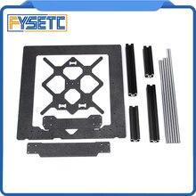 Klon orijinal Prusa i3 MK3 3D yazıcı parçaları alüminyum çerçeve siyah profil ve pürüzsüz çubuklar kiti