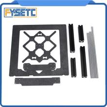 Klon oryginalny Prusa i3 MK3 3D drukarki części rama aluminiowa czarny profil i gładkie pręty zestaw