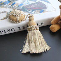 1Pc Flower Hanging Rope Silk Tassels Fringe Sewing Bang Tassel Trim Home Decor Tassels for DIY Embellish Curtain Accessories