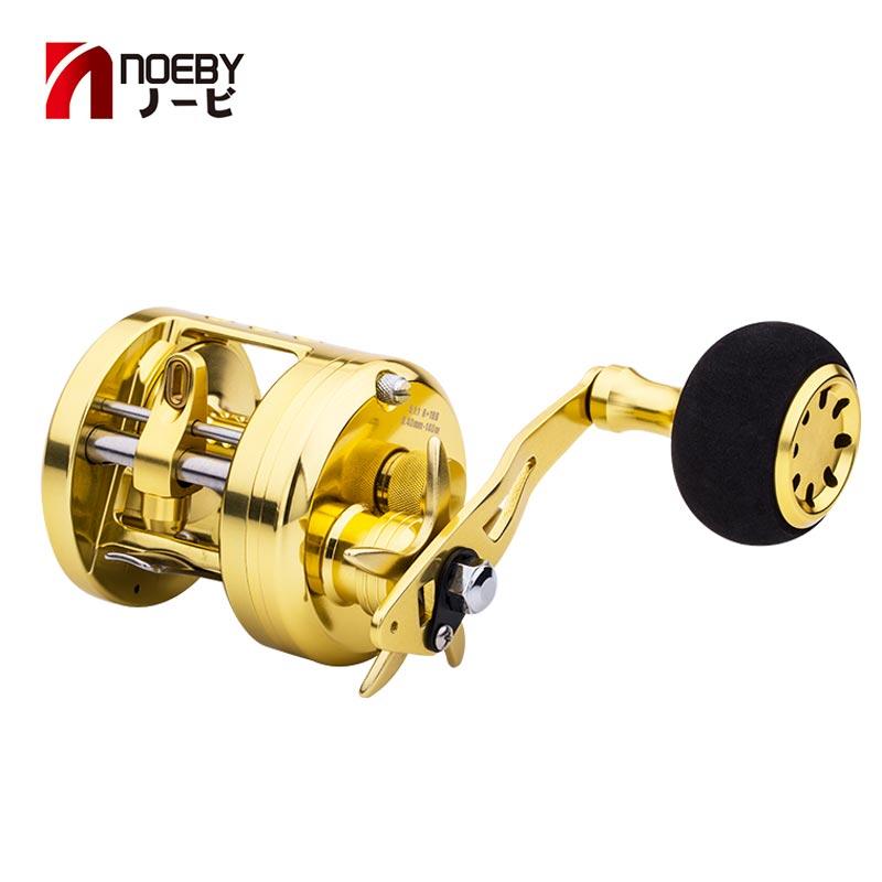 noeby trolling jigging fishing reel 5.1:1 8kg max drag baitcasting Saltwater overhead wheel Pesca Gold Dragon GB5000 hunthouse(China)