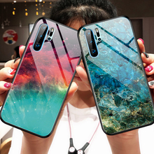 Phone Case sFor Huawei P30 Pro Lite Cover For P 30 Cute Marble Tempered Glass Soft Silicone