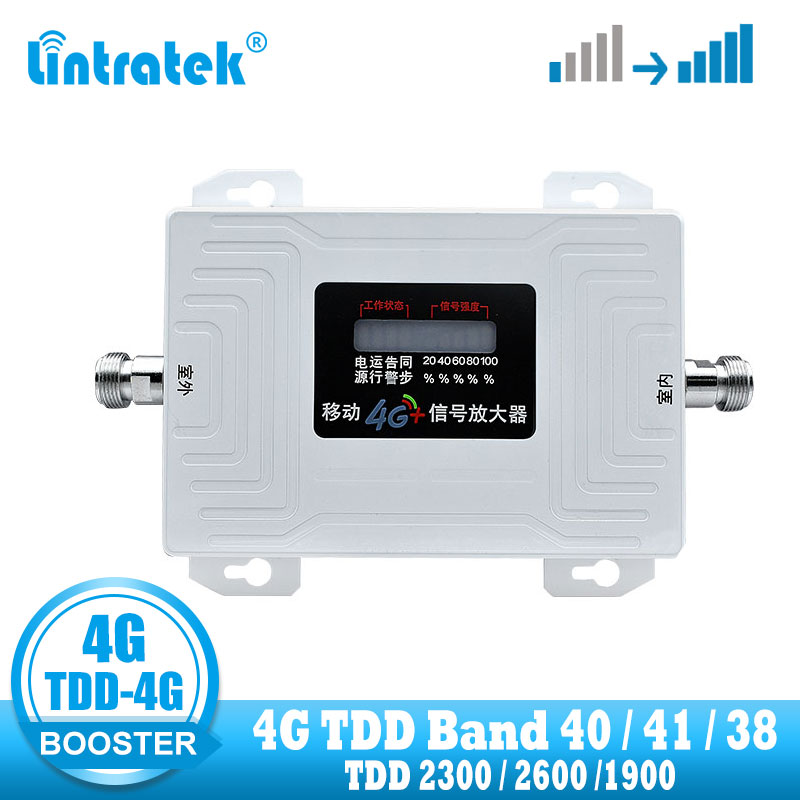 Lintratek 4G TDD Signal Booster Band 40 /41 /38  4G Internet Network TDD Signal Amplifier Repeater Celluar 2300 Phone Booster