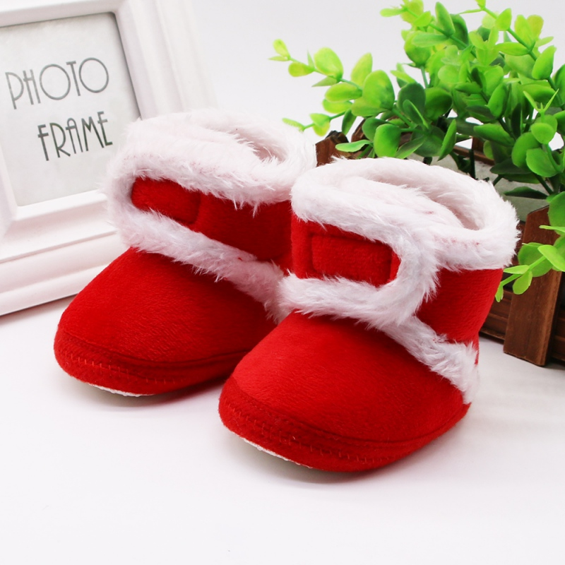 Warm Fleece Baby Girl Snow Boots For Baby Girl Boy Anti-silp Prewalker Booties Baby Shoes Toddler Shoe 0-18 Months