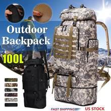 100L duża pojemność taktyczna wojskowa plecak Outdoor turystyka wspinaczka torba kempingowa plecak we wzór maskujący mężczyźni plecak podróżny tanie tanio Aequeen Oxford Tłoczenie Unisex Miękka Powyżej 76 litr Wnętrze slot kieszeń Kieszeń na telefon komórkowy Wewnętrzna kieszeń