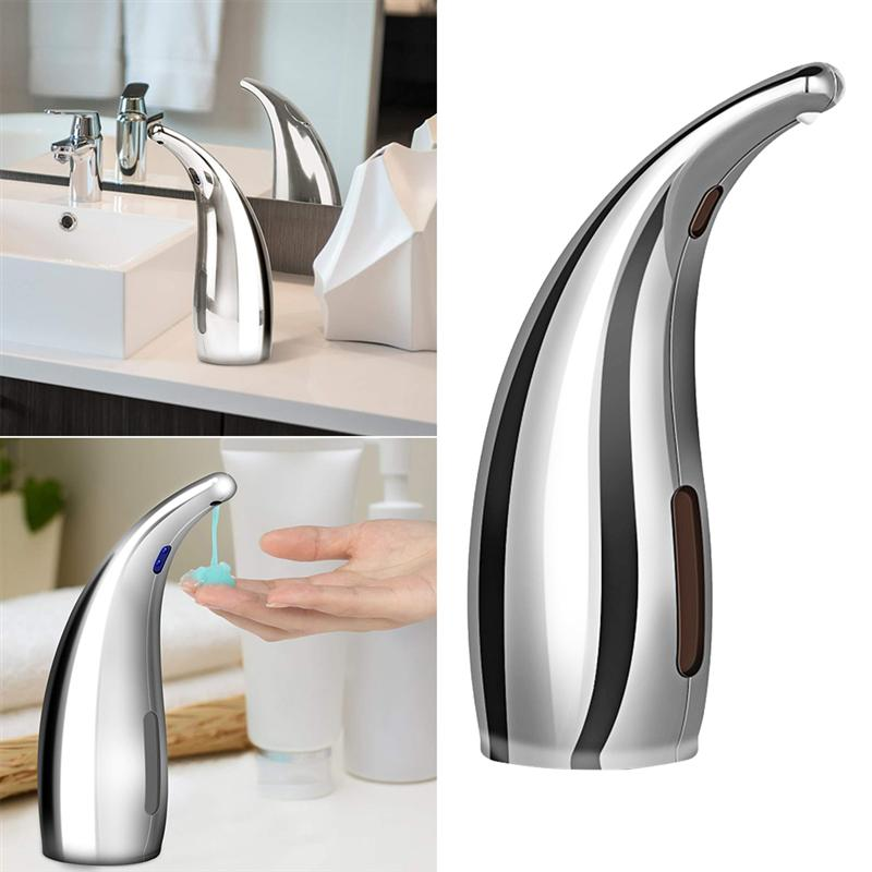 Soap dispenser Touchless Automatic ABS Soap Dispenser Motion Sensor Hand Free Dish Soap for Kitchen and Bathroom without BatteryLiquid Soap Dispensers   -