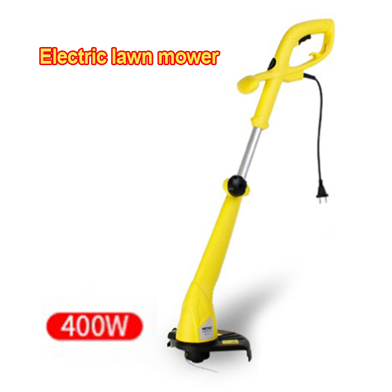 1PC MDTM-400 Height/head Angle Adjust Electric Mower Small Household Multi-function Lawn Mower Large Area Lawn Weeder 400W 220V