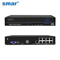 Smar H.265 4CH 8CH POE NVR 48V 1080 1080P HDMI フル HD ネットワークビデオレコーダー CCTV システム Poe カメラホームセキュリティ Onvif P2P