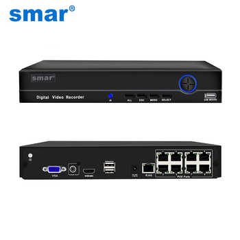 Smar H.265 4CH 8CH POE NVR 48V 1080P HDMI Full HD Network Video Recorder CCTV System For POE Camera Home Security ONVIF P2P - DISCOUNT ITEM  22% OFF Security & Protection