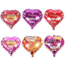 Miłość kształt serca szczęśliwy dzień matki dzień ojca balon z folii aluminiowej festiwal Globos balony tanie tanio Ballon JCE-1644