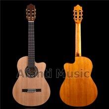 Afanti музыка 39 дюймов Ель и Nanyang Деревянная Классическая гитара с эквалайзером(ACL-1559-X