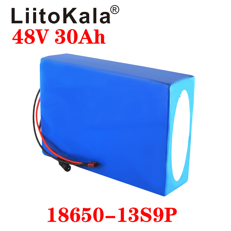 LiitoKala 18650 48V 20AH 30ah 15ah 12ah 25ah High Power Electric Bike Battery E-bike Battery 48V 18650 Lithium Battery With BMS